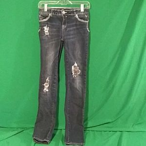 Justice 16R super skinny simply low sequin jeans